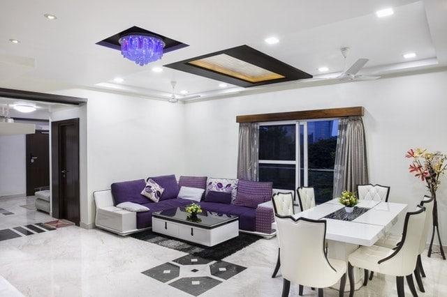 White & Purple Colour latest sofa