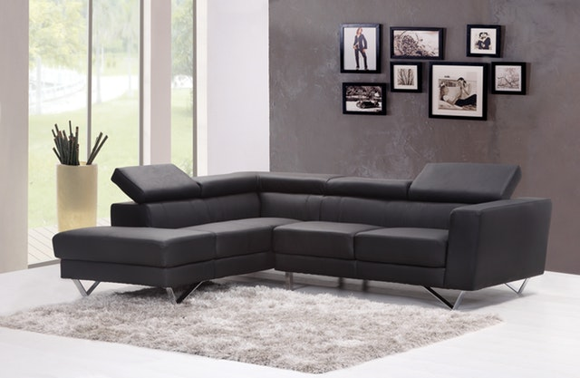 Black Colour Sofa Design