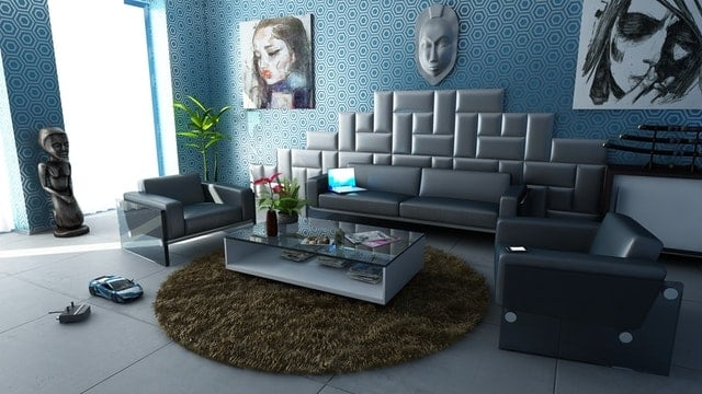 Dark gary colour Sofa Design