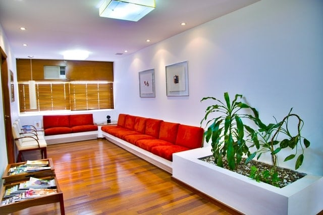 Simple Red Colour Sofa Design