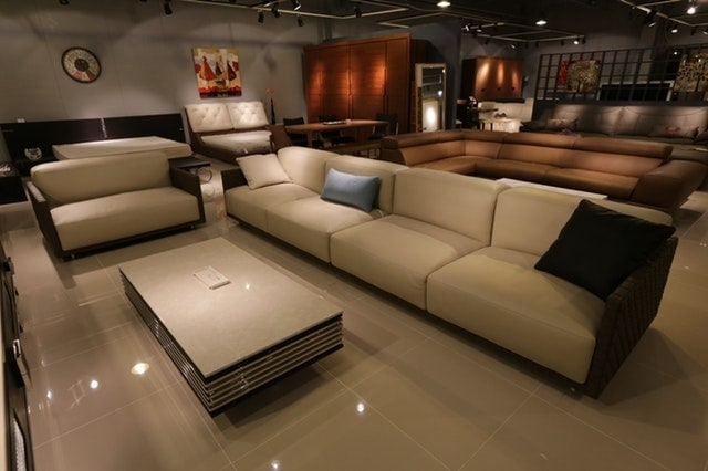 Skin & Dark Brown Colour Sofa Design